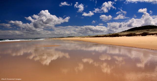 Cloud Reflections - Submarine Beach, Yagon, Myall Lakes National Park, Seal Rocks, Great Lakes, NSW