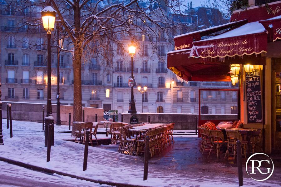 """""""L'hiver à l'Île Saint Louis"""". PARIS"""