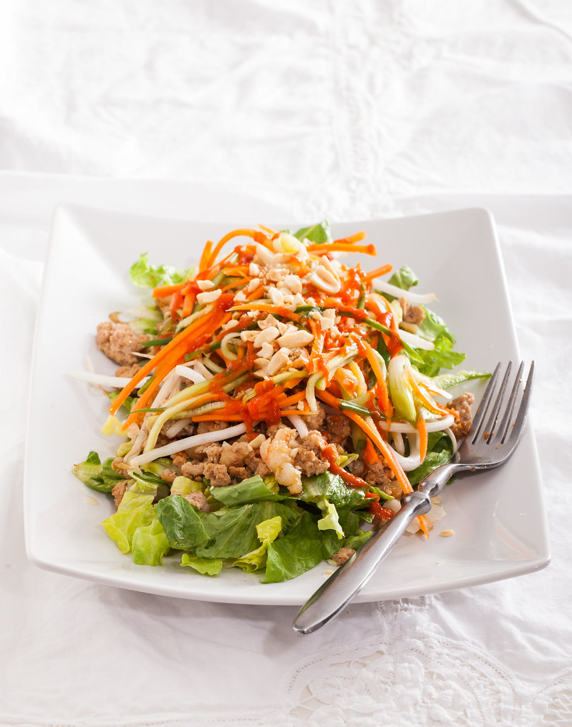 Vietnamese Salad with pickled veggies, pork and shrimp (Bahn Mi Salad)