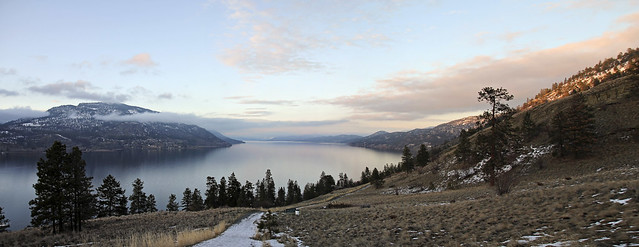 lake okanagan sunset
