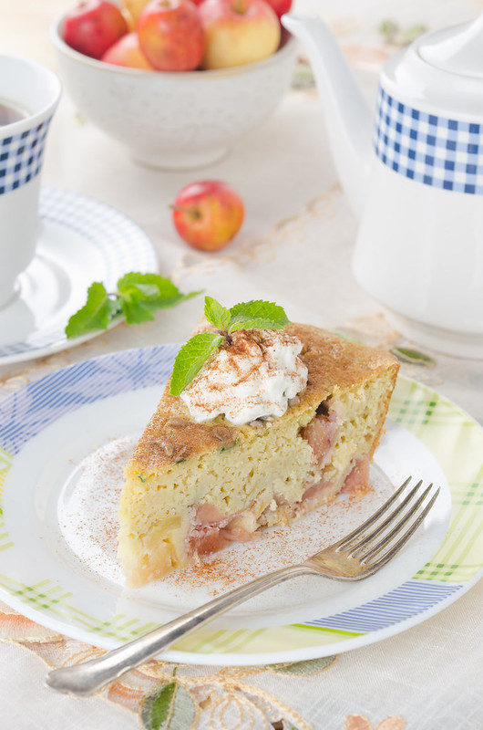 corn cake with apples