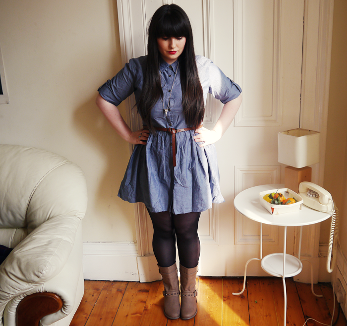 primark denim shirt dress 4