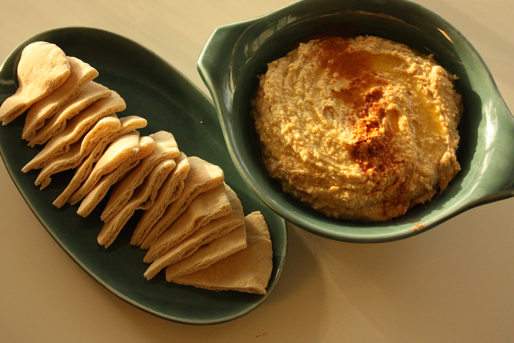 Roasted Garlic Hummus  rootedvegan.com