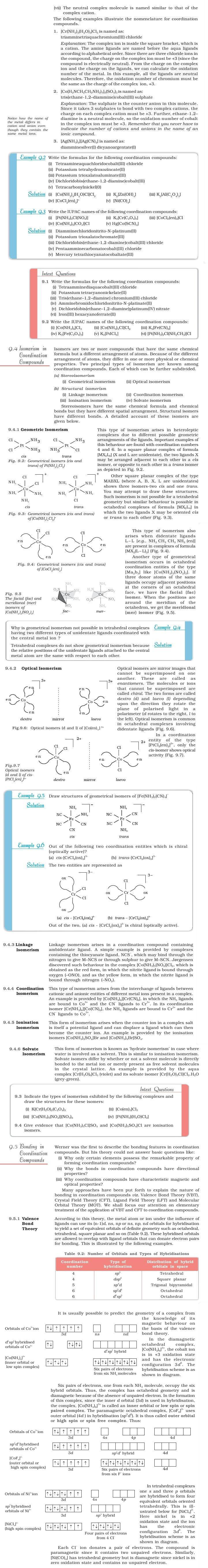 NCERT Class XII Chemistry Chapter 9 - Coordination Compounds
