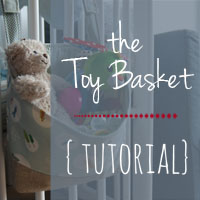Toy Basket Tutorial