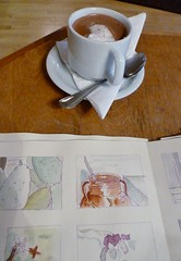 Hot chocolate and sketches - March 21 / Day 80