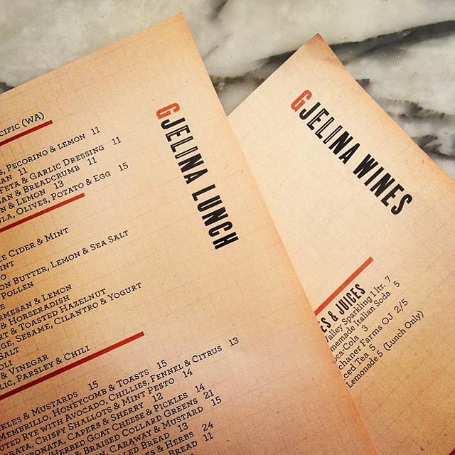 gjelina menus