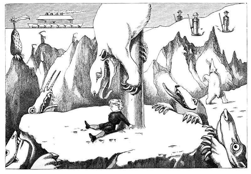 From Nowhere To The North Pole, written by Tom Hood, Illustrated by W.Brunton and E.C. Barnes, 1875 (7)