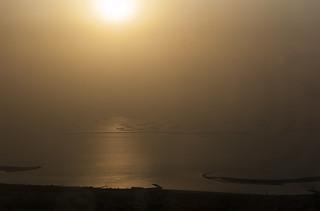 Coucher de soleil sur l'archipel The World