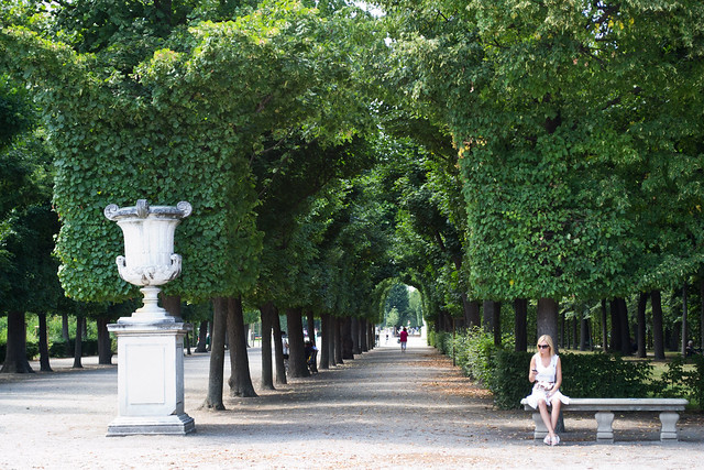 In the Gardens of Schonbrunn