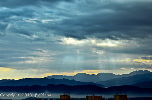 light sky sun love beautiful sunrise nikon taiwan rays 台灣 glimmer 日出 台灣taiwan i skiesandclouds morningsunrays 我愛台灣 d7000 雲隙光