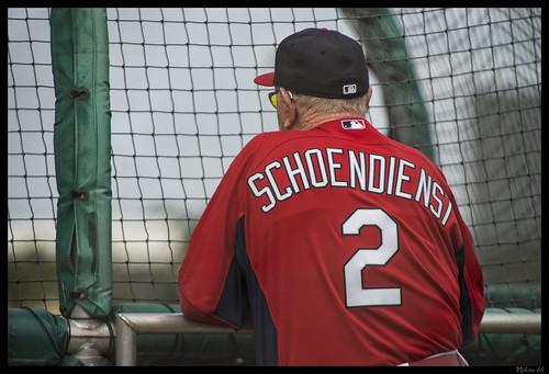 cc74dc24757 ... Red Schoendienst Watching Batting Practice - No 2