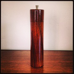 Mid Century Modern Rosewood Pepper Mill.