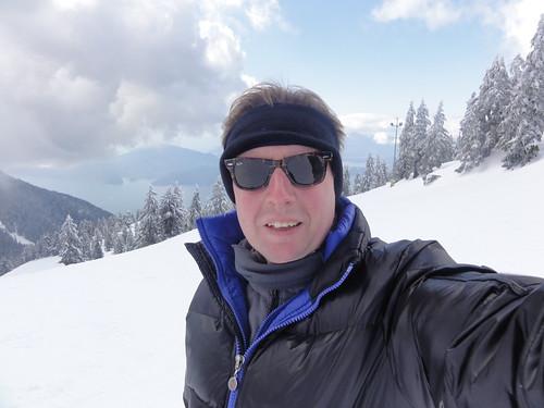 Self portrait on Cypress mountain