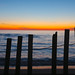 Cape Cod : Snow Fence Sunset Panorama by Chris Seufert