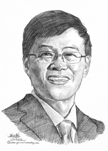 Pencil portrait for Chinese Swimming Club Goh Peng Koon - 6