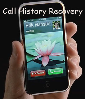 recover call history from iphone
