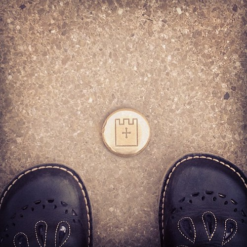 Bye York! Why are there little castles all over the pavements? I like them.
