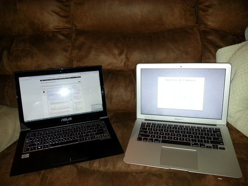 "It's amazing how similar my Windows 8 Zenbook is to Christina's new 13"" MacBook Air (outside of the touchscreen)"