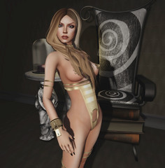 Promagic - Kinky (Gold) & 22769 [bauwerk] - Statue Marble Table & The Chair of Imagination