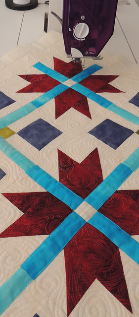 Quilting the background