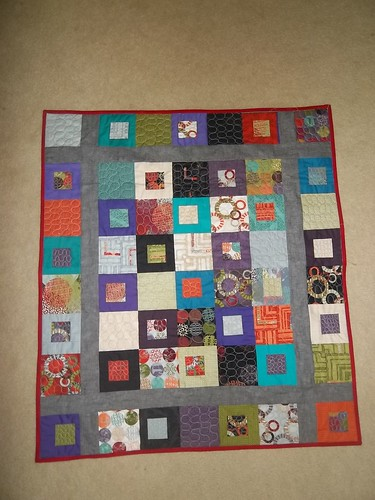 Circle Meets Square in Square Lap Quilt