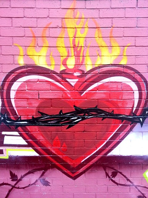 Heart on Fire - Petersham, Sydney street art