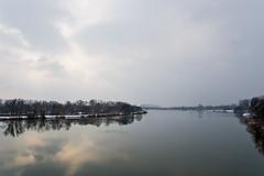 Vue sur la Moselle depuis le barrage d'Argancy