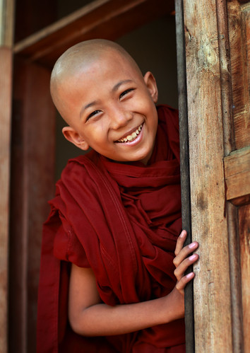 Myanmar, monks and novices