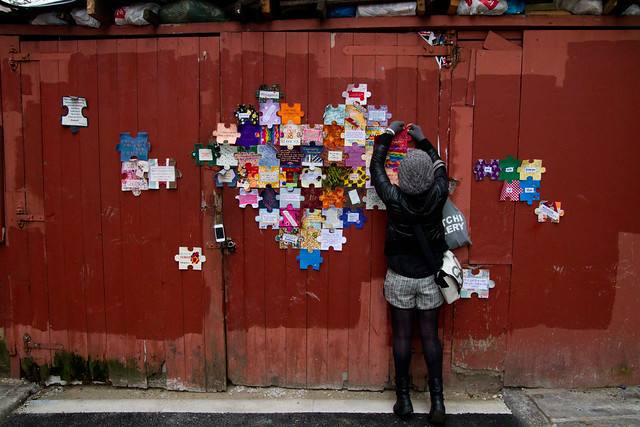Craftivist Jigsaw heart - Show your love this Valentine's not just for your crush/partner but for the world