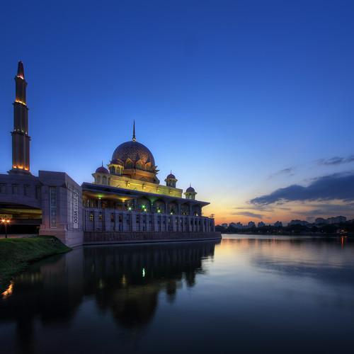 sunset architecture mosque malaysia putrajaya masjid putramosque masjidputra vertorama vedd