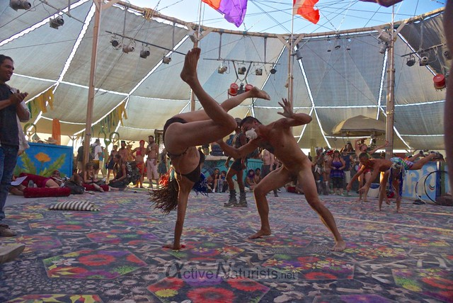 naturist capoeira 0100 Burning Man 2012, Black Rock City, NV, USA