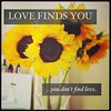 Love finds you, you don't find love...
