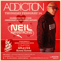Valentine's Day in Paradise Feb 14th – DJ Neil Armstrong @ Addiction Hawaii