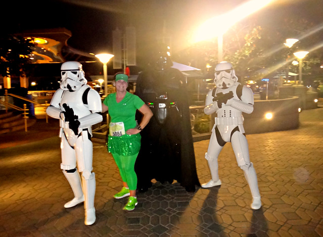A little Star Wars moment during the Tinker Bell Half Marathon