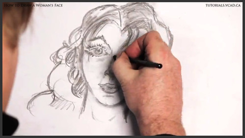 learn how to draw a womans face 023