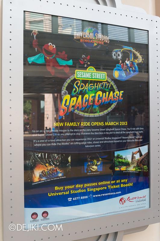 Sesame Street Spaghetti Space Chase Poster