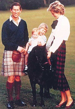 1985 Charles and Diana with their two little boys. 1985 1