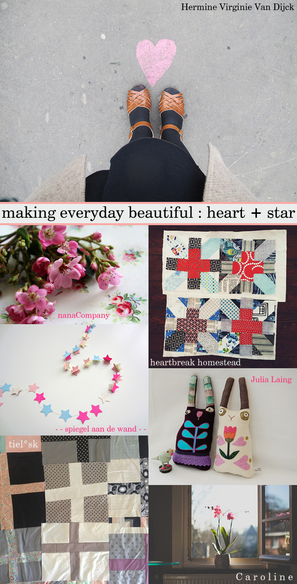 Weekly favourites from our Flickr group 'making everyday beautiful': 1. untitled by Hermine Virginie Van Dijck, 2. 37 | 365 by nanaCompany, 3. Untitled by heartbreak homestead, 4. openvouwen by - - spiegel aan de wand - -, 5. Folk Rabbit Friends by Julia Laing, 6. Piecing. Almost there. by tiel✳sk, 7. Las Flores. by C a r o l i n e ♥