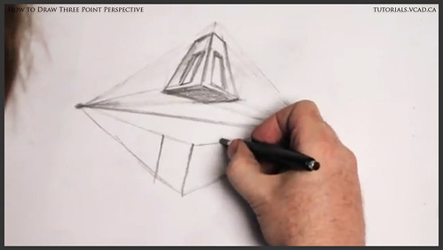 learn how to draw three point perspective 009