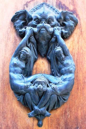 DETAILED FLORENTINE DOOR KNOCKER by Narolc
