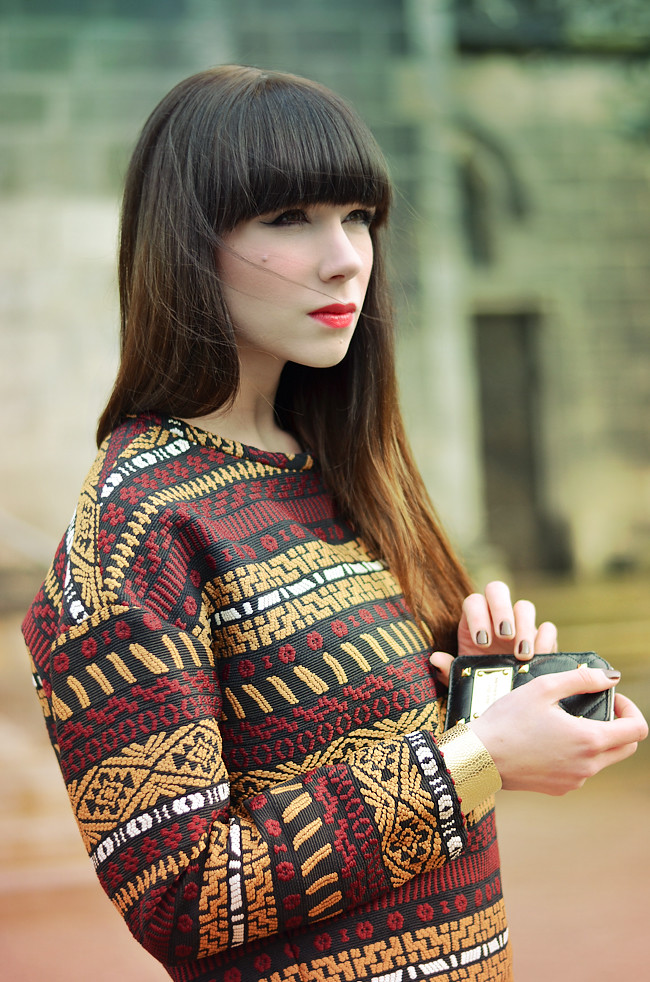 Zara aztec pattern outfit CATS & DOGS Blog 1