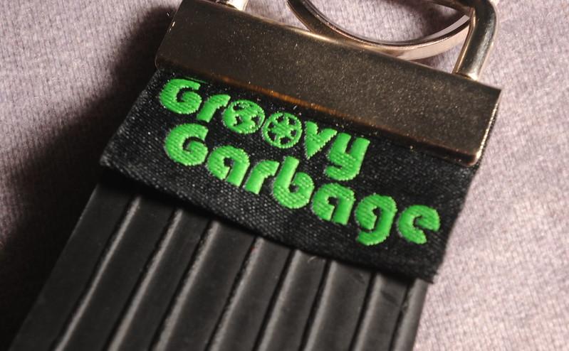 Groovy Garbage upcycled inner tube keyfob