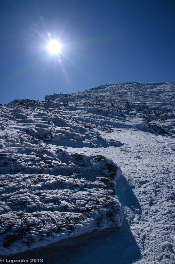 20130203 硫黄岳山頂への道