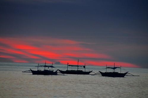 sunset seascapes boracay boracayisland