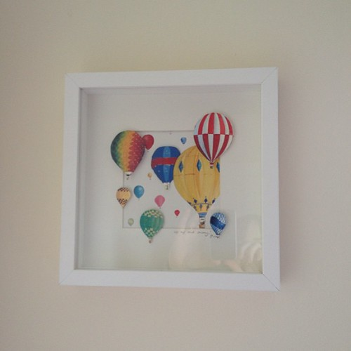 Look what i got - a lovely ballon art picture made by a friend for the nursery.