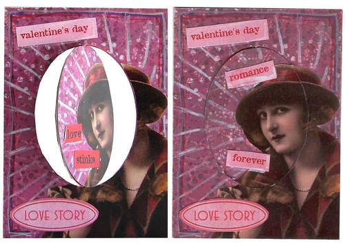 Flipping Valentine ATC#2