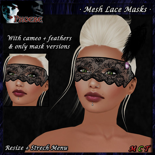 [NEW RELEASE] *P* Mesh Lace Masks ~Pink~