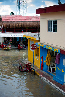 Flooded Streets of Isla Mujeres