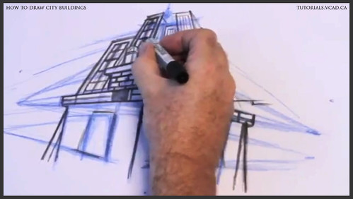 learn how to draw city buildings 024